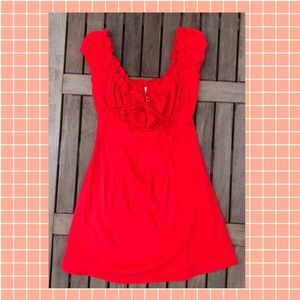 Free People Dresses - Free People Red Summer Dress, Size 4